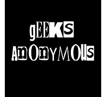Geeks Anonymous Photographic Print