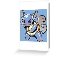 Wartortle Vector Greeting Card