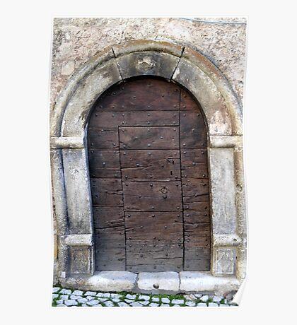 Big wooden door, Italy Poster