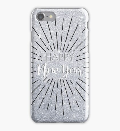 Happy New Year - Silver iPhone Case/Skin