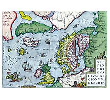 Map of Northern Europe - Ortelius - 1570 Photographic Print