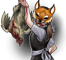 Trick or Treaters - Fox in the Hen House by fioski