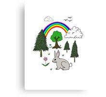 Cute Nature Scene Canvas Print