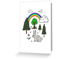 Cute Nature Scene Greeting Card