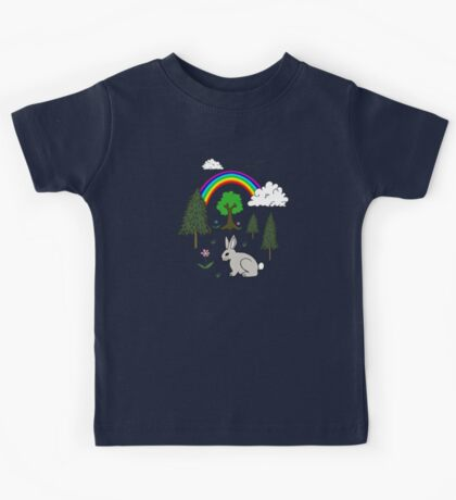 Cute Nature Scene Kids Tee