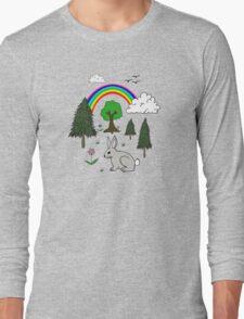 Cute Nature Scene Long Sleeve T-Shirt