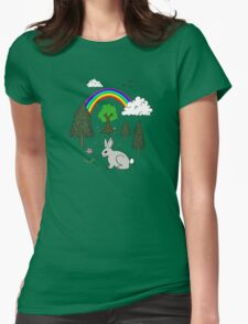 Cute Nature Scene Womens Fitted T-Shirt