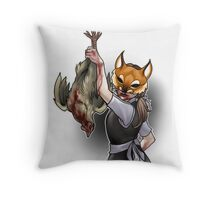 Trick or Treaters - Fox in the Hen House Throw Pillow