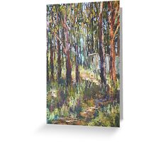 Gum Scrub - plein air paint out Greeting Card