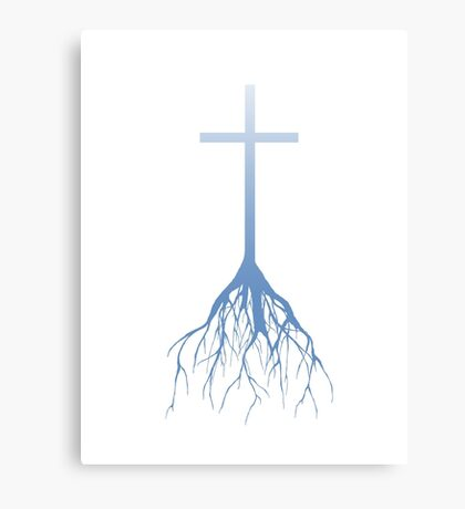 ROOTED FAITH (FADED BLUE) Canvas Print