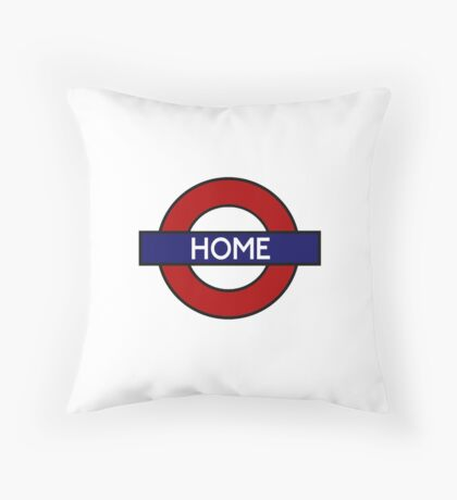 London Underground HOME Throw Pillow