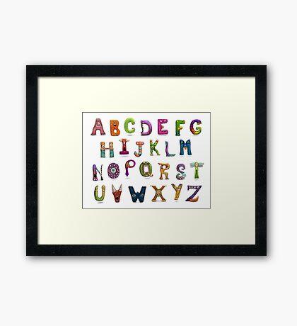 Monster Alphabet Framed Print