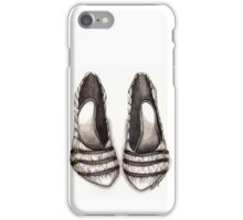 White & Black Shoe iPhone Case/Skin
