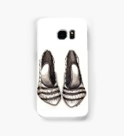 White & Black Shoe Samsung Galaxy Case/Skin