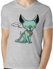 Lying Cat Mens V-Neck T-Shirt