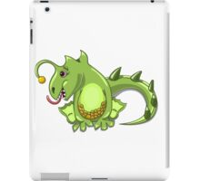 small dragon play with boll iPad Case/Skin