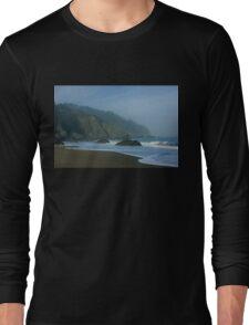 San Francisco Fog - China Beach Soft Foam Rough Rocks Long Sleeve T-Shirt