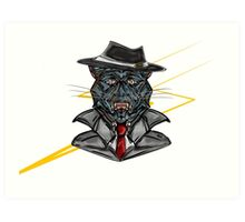 Corporate Cat Art Print