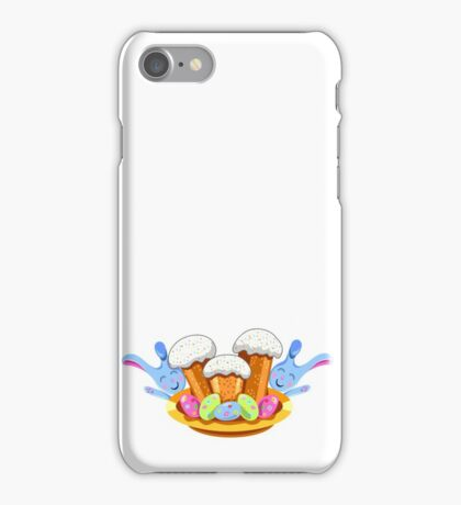 easter cakes with bunny and eggs iPhone Case/Skin