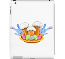 easter cakes with bunny and eggs iPad Case/Skin