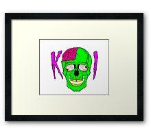 Killer Industries - Skullduggery Black Framed Print