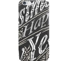 Vintage Greeting Card Text on a Blackboard  iPhone Case/Skin