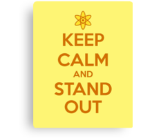 KEEP CALM - Keep Calm and Stand Out // Goofy Movie Powerline Canvas Print