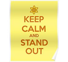 KEEP CALM - Keep Calm and Stand Out // Powerline Poster