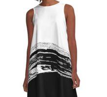 abstract brushstroke b&w A-Line Dress