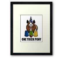 One Trick Pony Framed Print