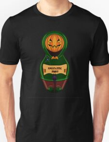 Halloween pumpkin with the poster in hands in style of a nested doll T-Shirt