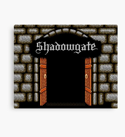 Shadowgate (NES Title Screen) Canvas Print
