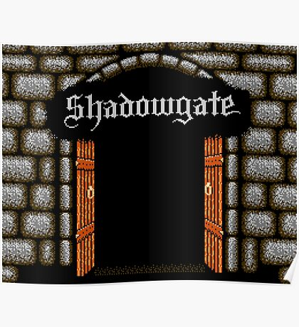 Shadowgate (NES Title Screen) Poster