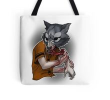 Trick or Treaters - Wolf at the Door Tote Bag