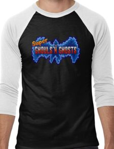 Super Ghouls 'n Ghosts (SNES Title Screen) Men's Baseball ¾ T-Shirt