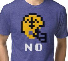 Tecmo Bowl, Tecmo Super Bowl, Tecmo Bowl Shirt, Tecmo Bowl T-shirt, Tecmo Bowl Helmet, NO Helmet, NO Tri-blend T-Shirt