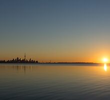 Bright and Early - Toronto Morning with a Terrific Sunrise by Georgia Mizuleva