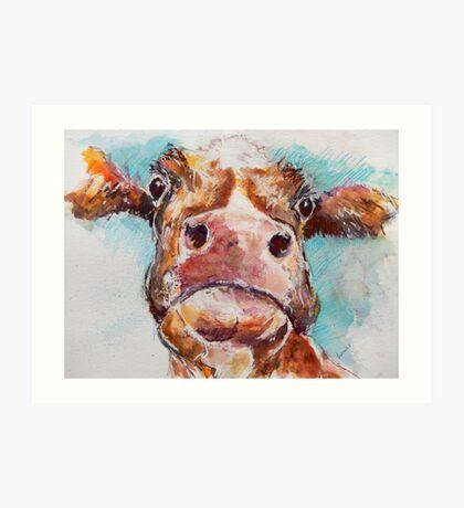Stroppy Cow Art Print