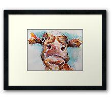 Stroppy Cow Framed Print