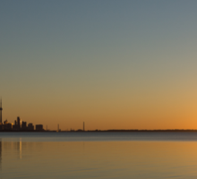 Bright and Early - Toronto Morning with a Terrific Sunrise Sticker
