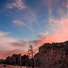 Smoky Sunset Over the Rock by Richard Bozarth