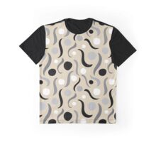 Abstract in Neutral Larger Scale Graphic T-Shirt