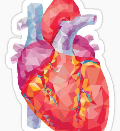 polygonal human heart illustration Sticker
