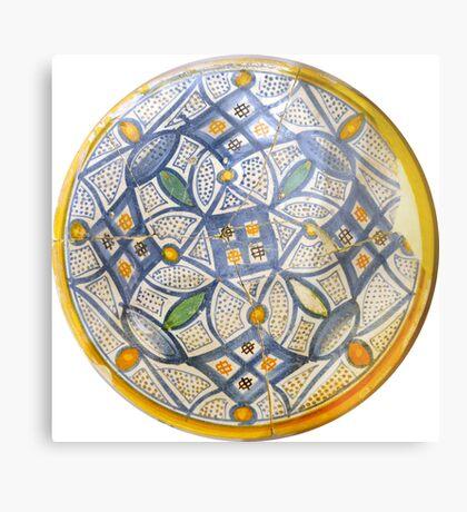 greek ancient ceramic plate Metal Print