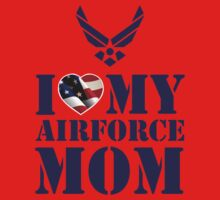 I LOVE MY AIRFORCE MOM One Piece - Short Sleeve
