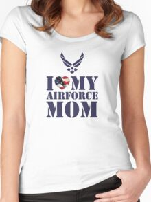 I LOVE MY AIRFORCE MOM Women's Fitted Scoop T-Shirt