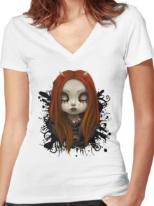 Haunted Women's Fitted V-Neck T-Shirt