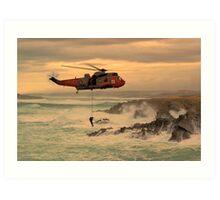 Royal Navy Rescue  Art Print
