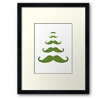 Mustache Tree Framed Print