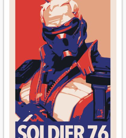 Soldier 76 HOPE Propaganda Sticker